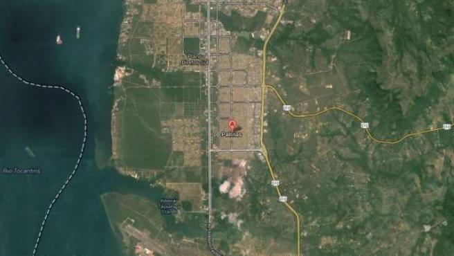 Imagen vía satélite de la ciudad de Palmas, en el estado brasileño de Tocantins.