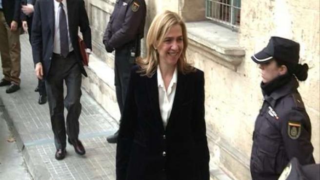 La Infanta Cristina en los juzgados de Palma