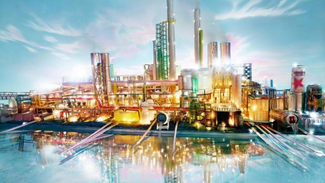 Una de las maquetas de refinerías de David LaChapelle