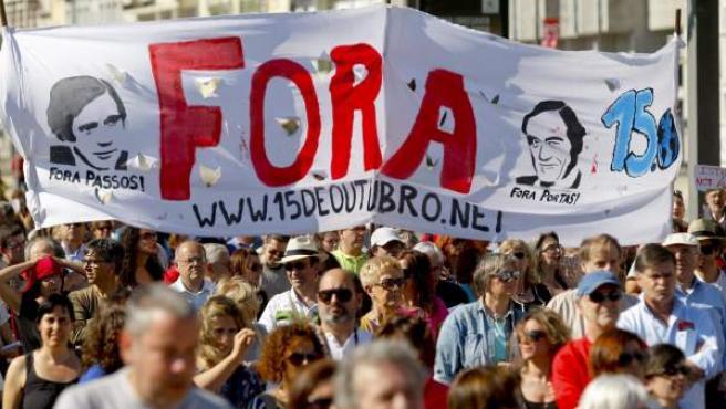 Varias ciudades portuguesas, entre ellas Lisboa, pidieron a la troika que se fuese de su país.