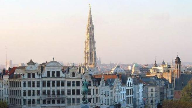 Panorámica de la ciudad de Bruselas, capital de Bélgica.