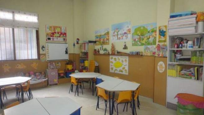 Interior de una escuela infantil en Madrid.