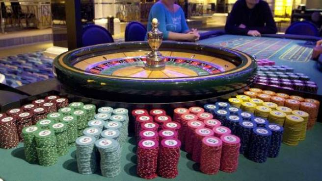 Mesa de juego de un casino.