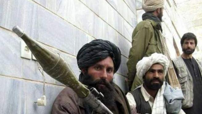 Imagen de archivo de un grupo de milicianos del movimiento talibán.
