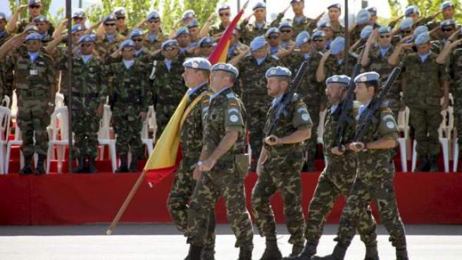 Un grupo de soldados españoles destinados en el Líbano, en una imagen de archivo.