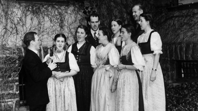 La familia Von Trapp, que inspiró 'Sonrisas y Lágrimas'.