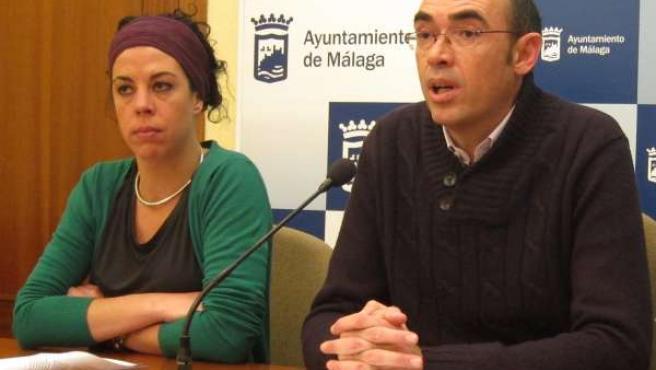 Los concejales de IU Ana García Sempere y Eduardo Zorrilla