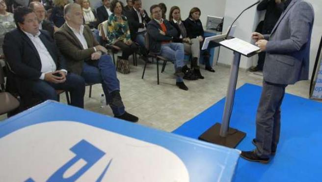 Fabra en el acto del PPCV en Castellón ante González Pons y Javier Moliner
