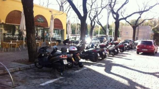 Aparcamientos motos Prado