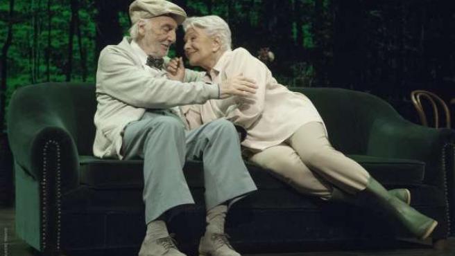Lola Herrera y Ernesto Alteiro en la obra 'En el estanque dorado'