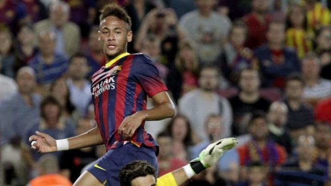 El delantero brasileño del FC Barcelona, Neymar.