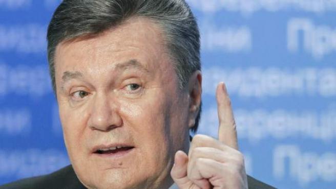 El presidente de Ucrania, Viktor Yanukovich, en una rueda de prensa en Kiev el pasado mes de noviembre.