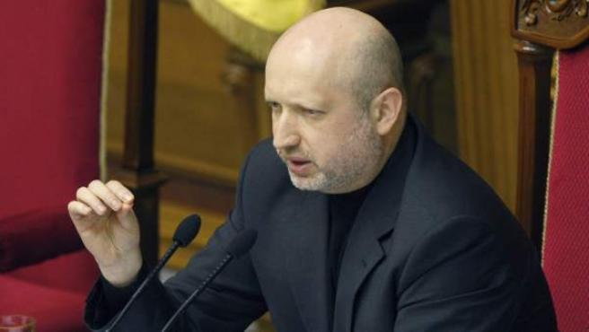 Alexandr Turchínov, presidente interino de Ucrania.