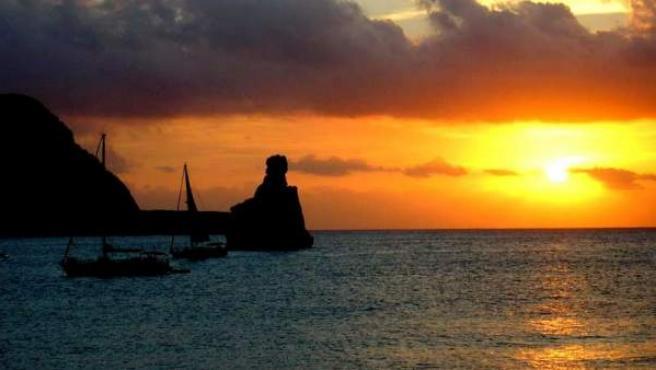 Atardecer desde la isla Pitiusa.