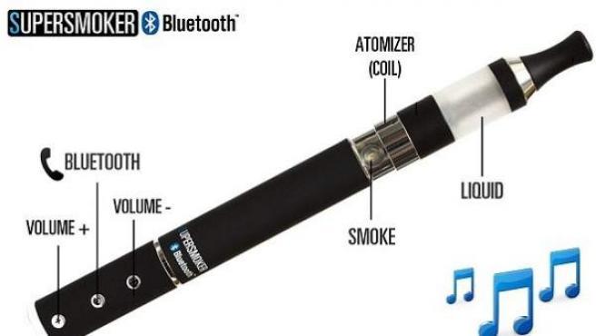 Cigarrillo electrónico SuperSmoker que permite recibir llamadas y escuchar música.