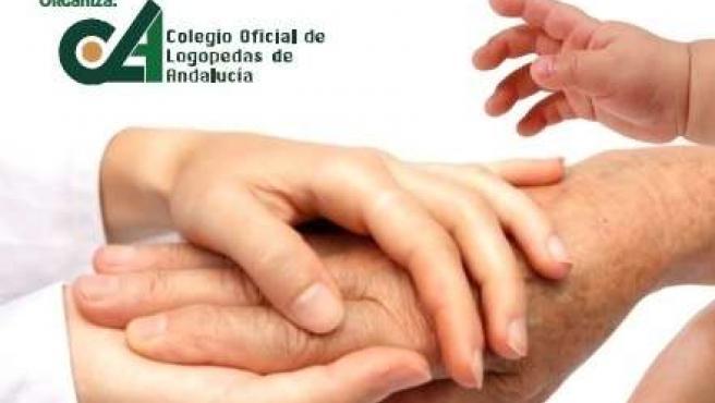 Cartel del Colegio de Logopedas de Andalucía por el Día Europeo de la Logopedia