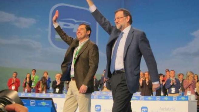 Rajoy y Moreno en el 14 Congreso del PP-A