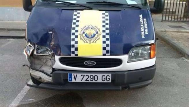Vehículo de la Policía Local de Valencia