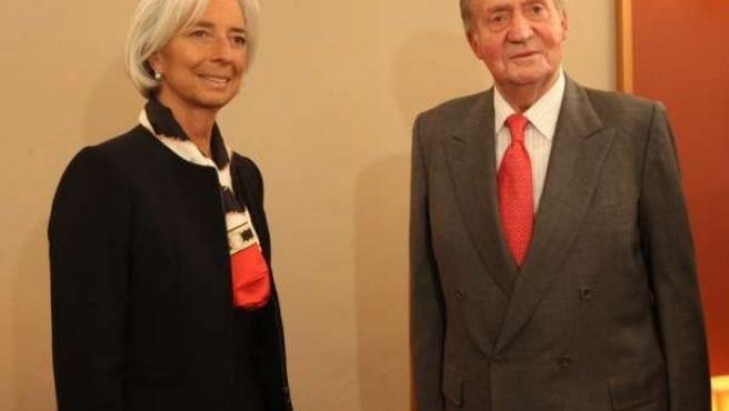 El Rey recibe a la directora del FMI