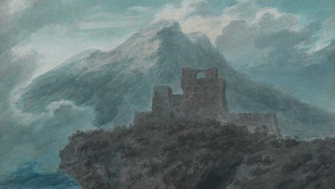 'Un fuerte en ruinas cerca de Salerno', acuarela del paisajista romántico londinense John Robert Cozens datada en torno al año 1782