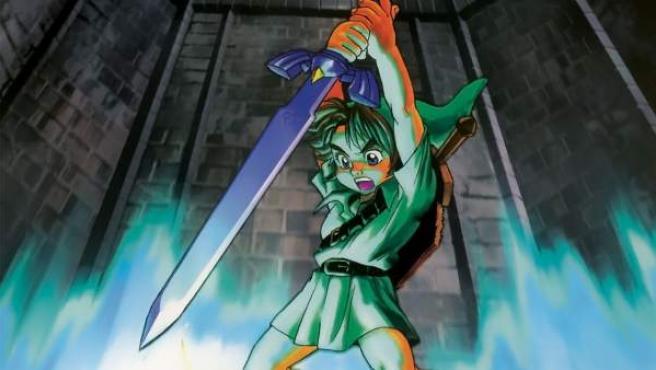 La espada maestra del juego 'The Legend of Zelda: Ocarina of Time'.