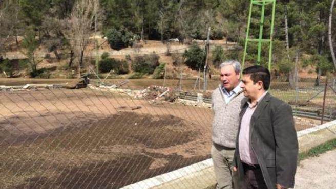Francisco Reyes visita las zonas de Santiago-Pontones afectadas por la lluvia