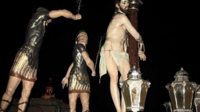 El paso de la Flagelación de la Semana Santa de Medina de Rioseco