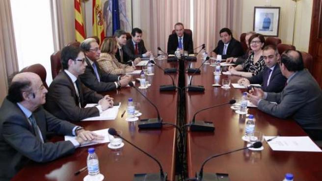 Reunión de Alberto Fabra en Castellón