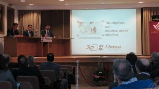 Presentación del servicio de banca privada de CajaSur en Jaén