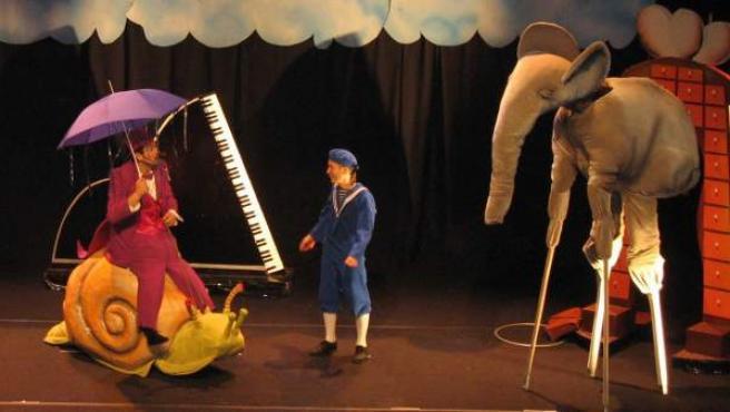 El muntatge El Petit Dalí es representa aquest diumenge a l'escenari del Teatre Poliorama.