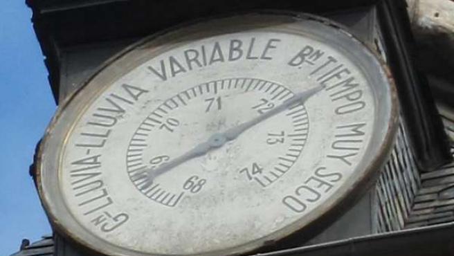 barómetro que marca buen tiempo en madrid