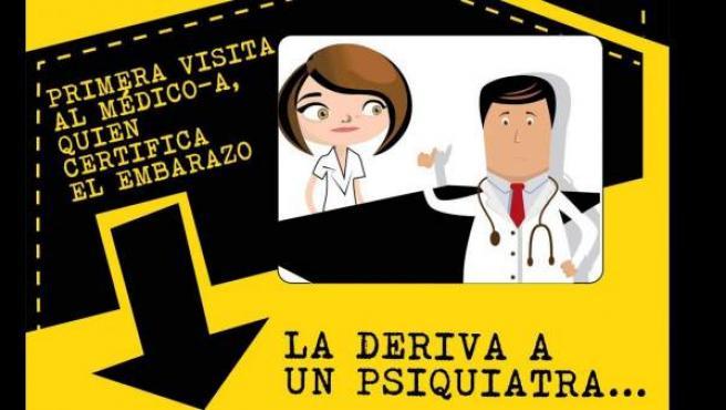 Imagen de la web creada por el PSOE contra la reforma de la ley del aborto.