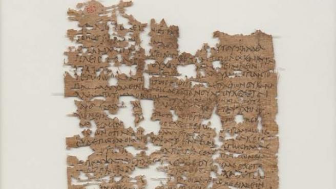 Imagen de la carta de 1.800 años de antigüedad que científicos estadounidenses han logrado descifrar.