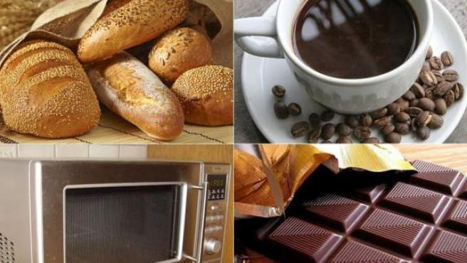 El pan multicereales, el consumo de café, el uso del microondas, las propiedades del chocolate... mitos sobre los alimentos y sus propiedades.