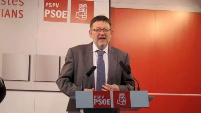 Ximo Puig, candidato del PSPV a la Generalitat Valenciana, en una foto de archivo.