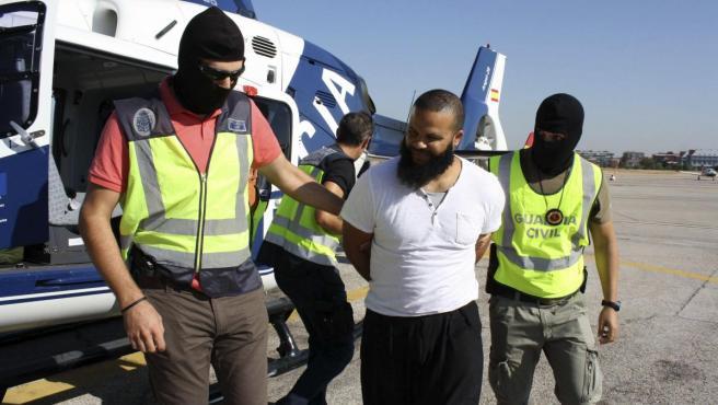 Detención de un presunto terrorista, en una imagen de archivo.