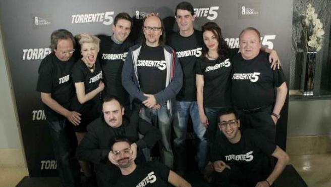Parte del elenco de 'Torrente 5'.