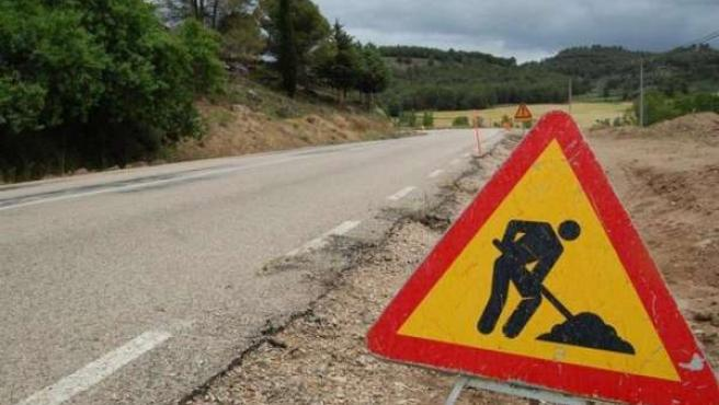 carretera en obras