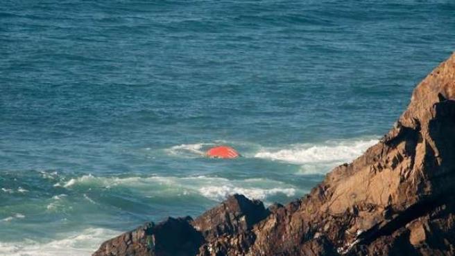 Lugar del naufragio, frente al Cabo Peñas