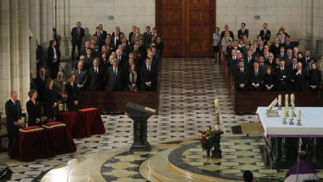Imagen del funeral de Estado en la catedral de La Almudena con motivo del décimo aniversario del 11-M.
