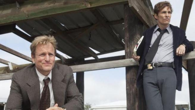 Matthew McConaughey y Woody Harrelson en la serie 'True Detective'.