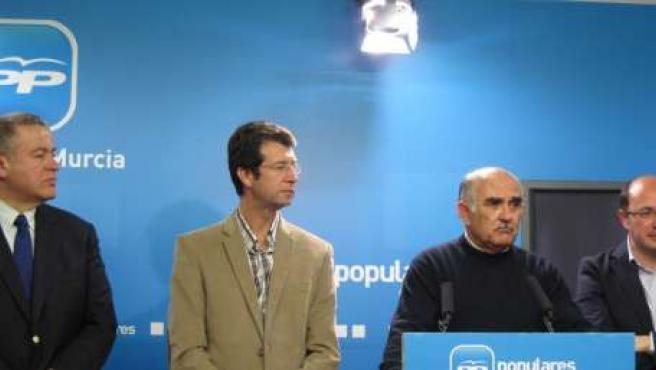 Francisco Bernabé, Juan Carlos Ruiz, Alberto Garre y Pedro Antonio Sánchez