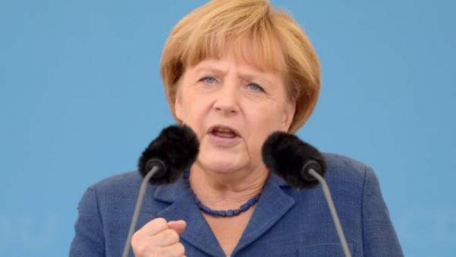 La canciller alemana, Angela Merkel, en un acto.