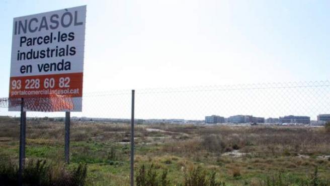 El terreno del Incasòl en el Prat de Llobregat (Barcelona), donde la multinacional Amazon podría instalarse.