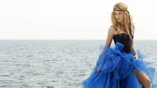 La cantante colombiana Shakira, durante la presentación de uno de sus discos.