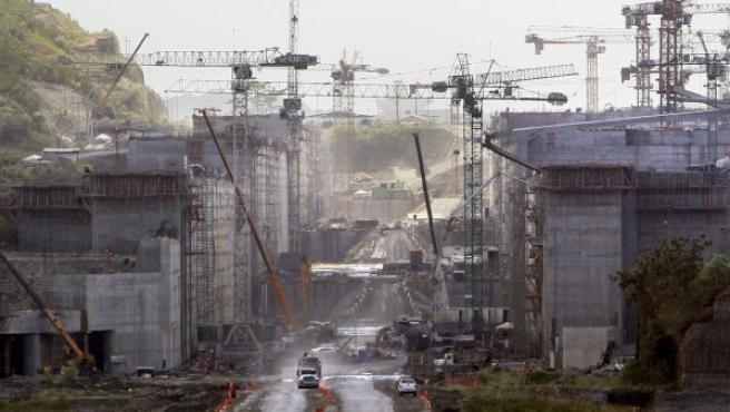 Obras del Canal de Panamá.
