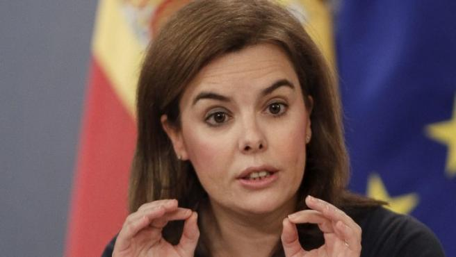 La vicepresidenta del Gobierno Soraya Sáenz de Santamaría.