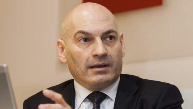 El juez de la Audiencia Nacional, Javier Gómez Bermúdez, durante la conferencia.