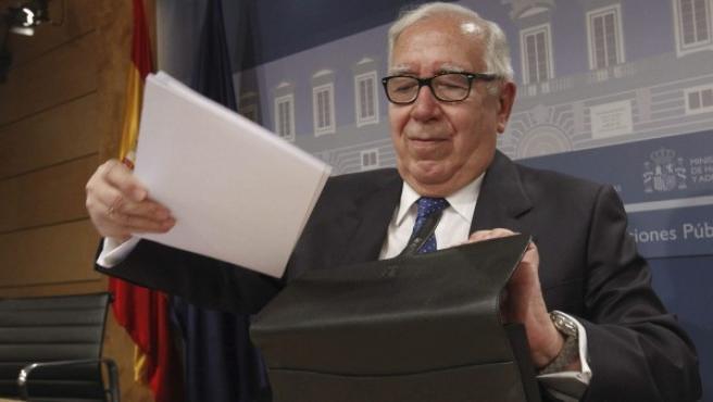 El presidente del comité de expertos para la reforma fiscal, Manuel Lagares.