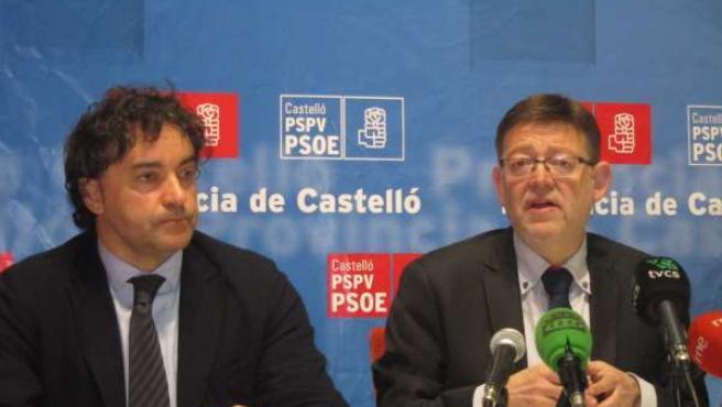 Ximo Puig y Francesc Colomer en Castellón